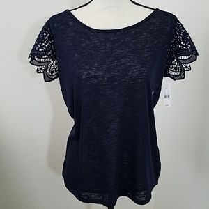 New York & Company Navy Blue Top